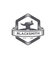 blacksmith emblem logo vector image