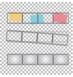 blank film frame stock vector image