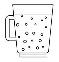 Blueberry smoothie icon outline style vector