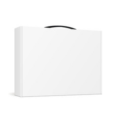 Box with handle for laptop vector