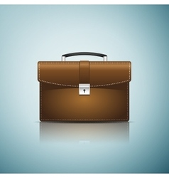 Briefcase brown business icon isolated on blue vector