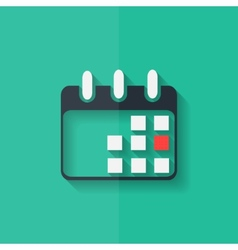 Calendar organizer icon date symbol flat design vector