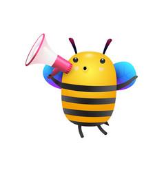 Cartoon bee honey vector