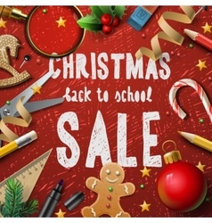 Christmas school sale vector