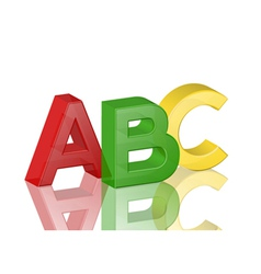 colorful transparent alphabet abc vector image vector image