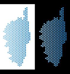 Corsica france island map hex tile mosaic vector