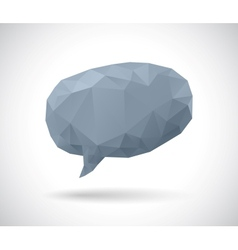 Dark geometric speech bubble made of triangles vector image