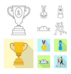 design of sport and winner symbol set of vector image