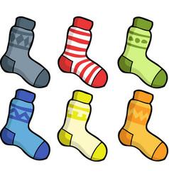 doodle set of socks vector image
