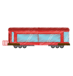 drawing drawing train wagon rail vector image