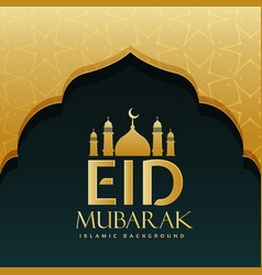 eid mubarak festival greeting background design vector image