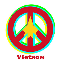 Flag vietnam as a sign of pacifism vector