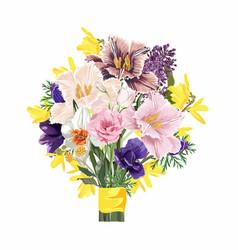 flower bouquet floral bunch design object element vector image
