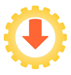 gear and arrow flat icon mechanic color icons in vector image