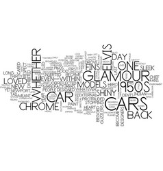 Glamour cars text background word cloud concept vector