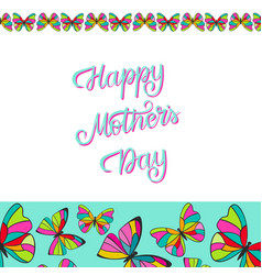 greeting card happy mothers day template vector image
