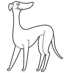 Greyhound dog minimalist image vector