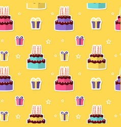 happy birthday seamless pattern background with vector image