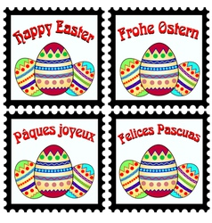 Happy easter stamps vector