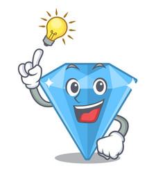 Have an idea sapphire gems in a cartoon bag vector