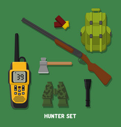 Hunting a set of hunter items fla vector