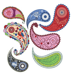 intricate paisley pattern design vector image
