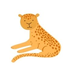 Jaguar Stylized Childish Drawing vector
