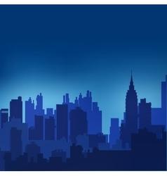 Landscape urban silhouette vector image
