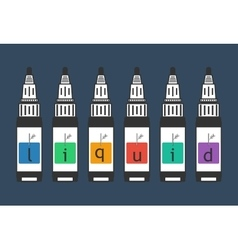 liquid for electronic cigarette vaping vector image