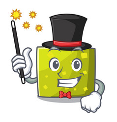 magician square mascot cartoon style vector image