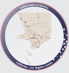 Map los angeles county in california vector
