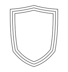 Military shield icon outline style vector