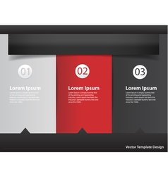 Modern design template infographics numbered vector