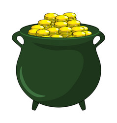 money gold pot design isolated on white background vector image