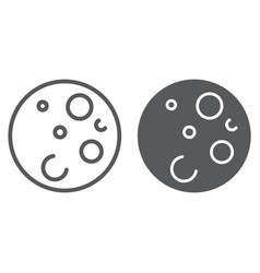 moon line and glyph icon space and astronomy vector image