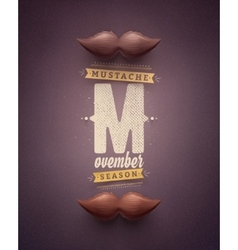 Movember Time vector