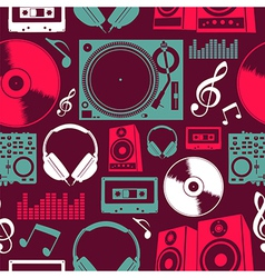 Music icons seamless pattern vector