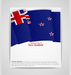 national flag brochure of new zealand vector image