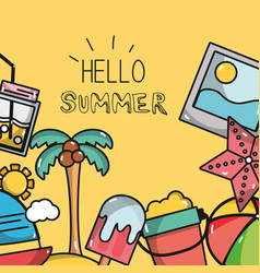 nice summer vacation activities vector image