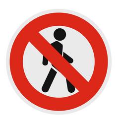 no pedestrian icon flat style vector image