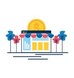 online shopping money vector image