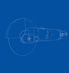 outline electric angle grinder vector image