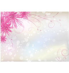 Pink aster background vector