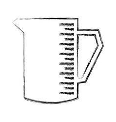 pitcher kitchenware cooking utensil handle empty vector image