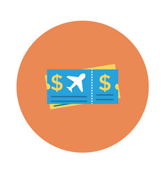 Planeticket vector