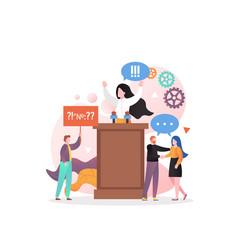 Political speech concept for web banner vector