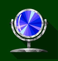 polygon mirror image vector image