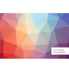 Polygonal background mockup vector image