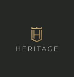 Premium monogram letter h initials logotype vector