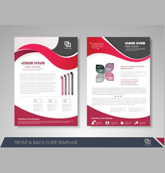 Presentation flyer vector